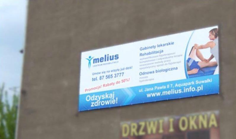 Baner zewnętrzny - Melius