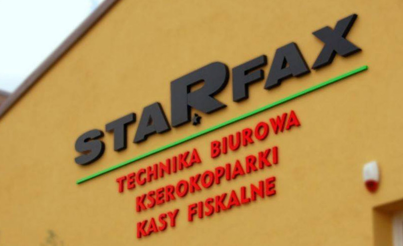 Napis 3 D - Starfax